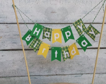 "Cake Bunting, ""Farmer"", Happy Birthday, Cake Topper,"
