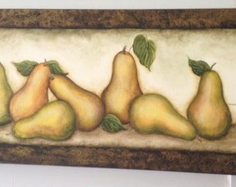 Original Acrylic Painting of Pears