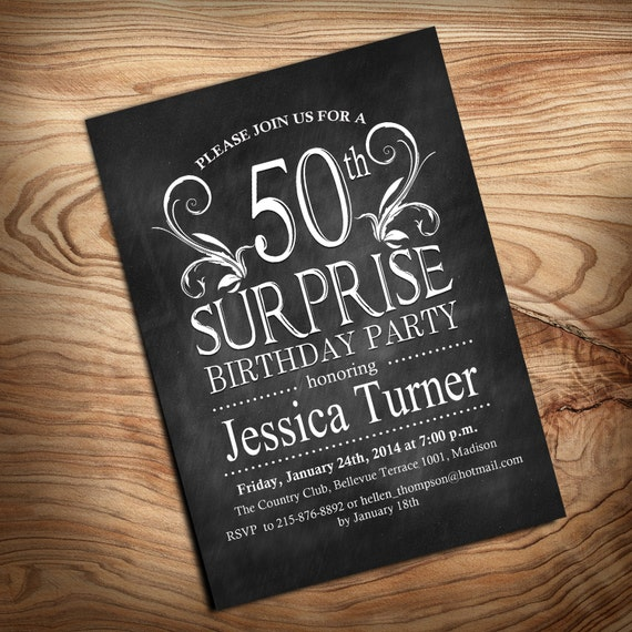 Items Similar To 50th Surprise Birthday Invitation / DIY