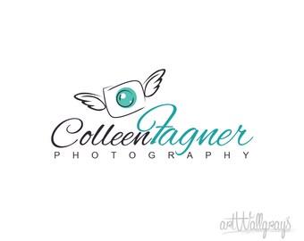 Photography Logo, Premade Photography Logo Design, Pre-Made Logo - Angel Camera