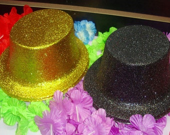 Party Top Hat with Glitters, 10-inch