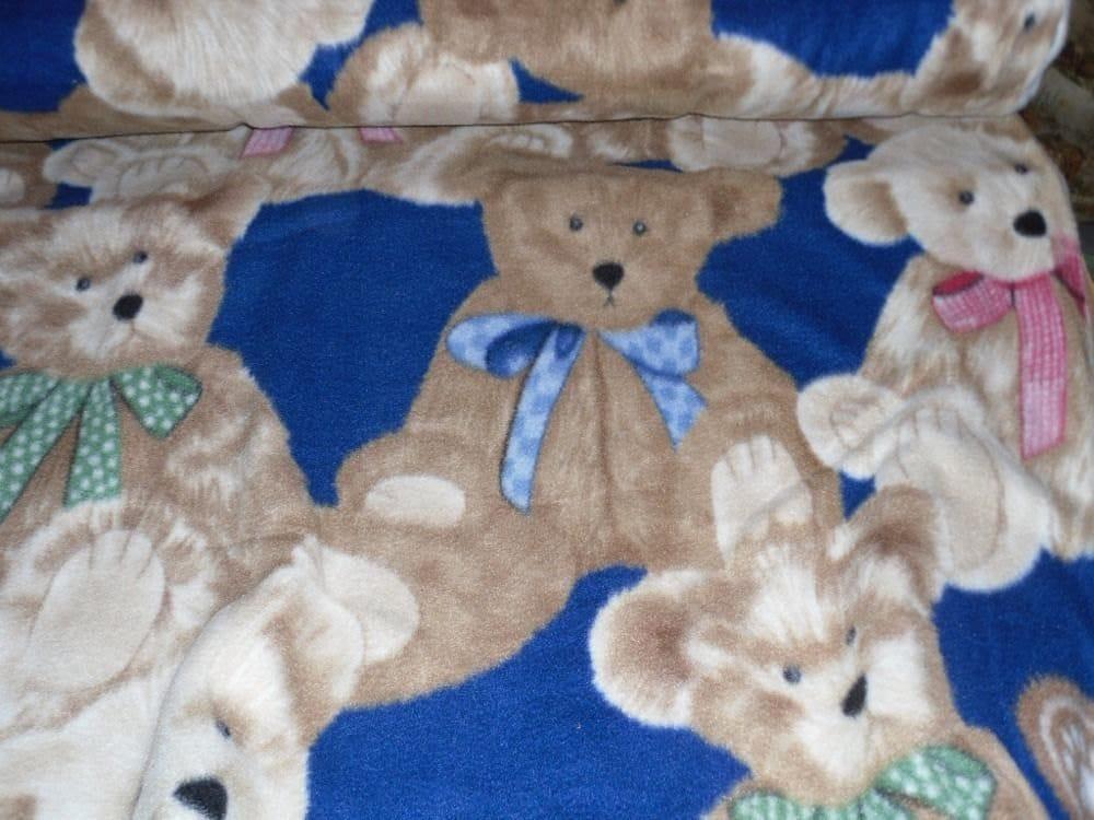 Boyds Teddy Bear Fleece Fabric By The Yard By