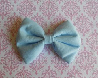 """5"""" Sweet Lolita blue hair bow clip"""