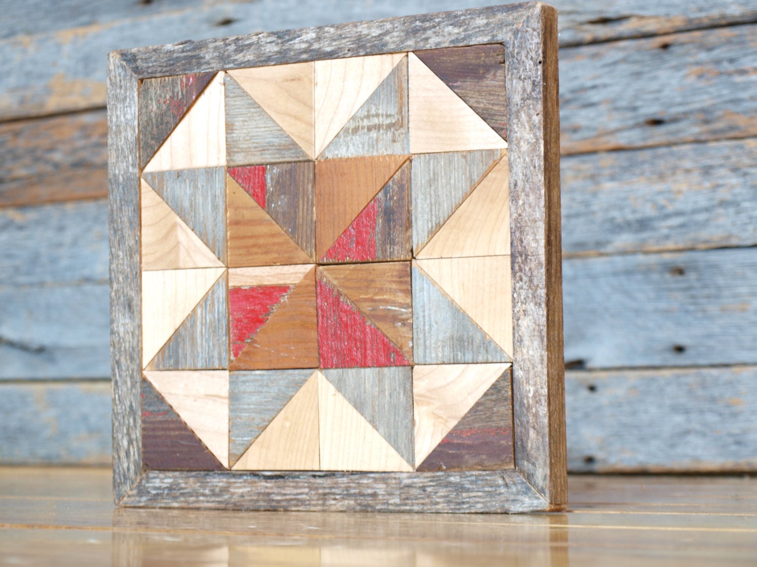 wooden quilt block salvaged barnboards by IlluminativeHarvest