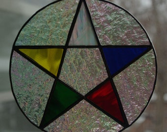 Pentacle, Suncatcher with Five Elements