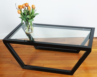 Contemporary Glass & Steel Coffee Table