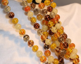 Vintage Beautiful Glass Bead Necklace 50""