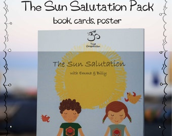 SALE The Yoga Sun Salutation Pack for kids - book, cards, poster