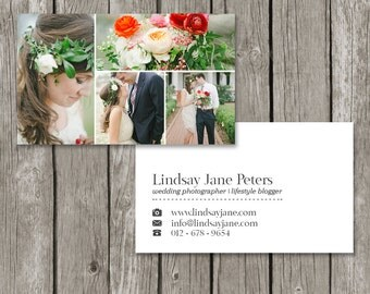 Photographer Business Card Template - Photo Marketing Business Card Design (Printable) - BC06