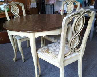 French Provincial Dining Room Set, Can Paint to Order, All CUSTOM. French Dining Table avail separately, see Listing