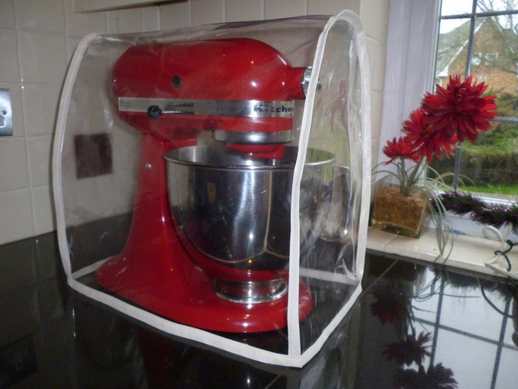 Fabric Exhibition Stand Mixer : Clear cream pvc food mixer appliance cover kitchenaid kmix
