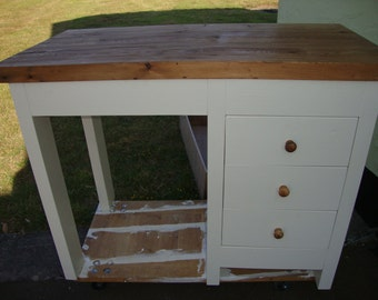 Chunky rustic reclaimed timber Desk