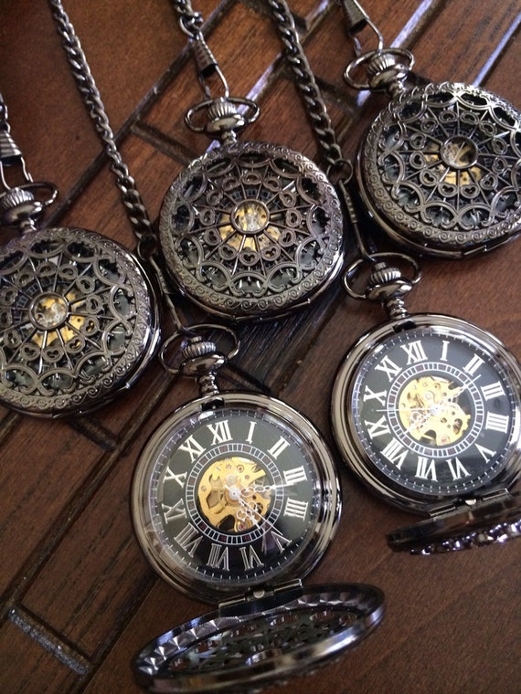 groomsmen pocket set of 5 engraved by