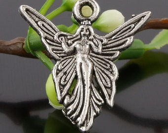 SALE**Summer Clearance**Tibetan Silver Large Fairy Pendant