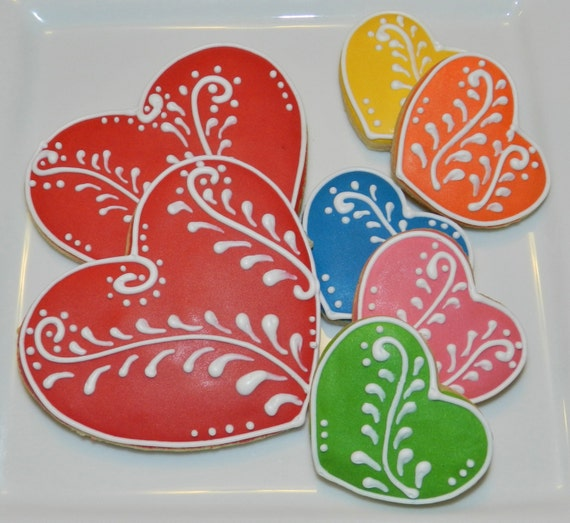 Valentine's Day Heart Cookies One Dozen