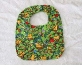 Teenage Mutant Ninja Turtles Inspired Bib