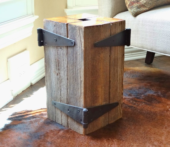 Sale Reclaimed Vintage Barn Beam Lamp Table With Reclaimed
