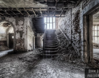 Abandoned Indiana Church Stairs.  Urbex, Urban Decay Photography