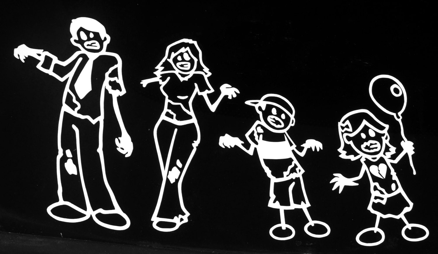 Zombie Stick Family Decals