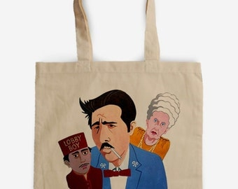 Gran Hotel Budapest Tote Bag, A tribute to Wes Anderson film