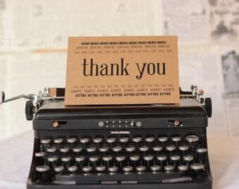 Seven-Language Thank You Card : LBC Brown Kraft Paper