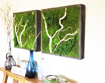 Green Wall Art effortless natural green wall artartisanmoss on etsy