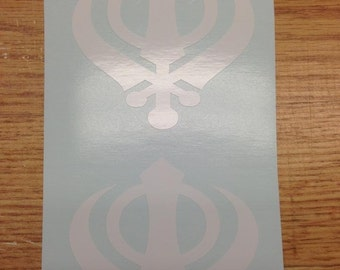 "Khanda Stickers Decals - Set of 2 - 3"" X 3"""