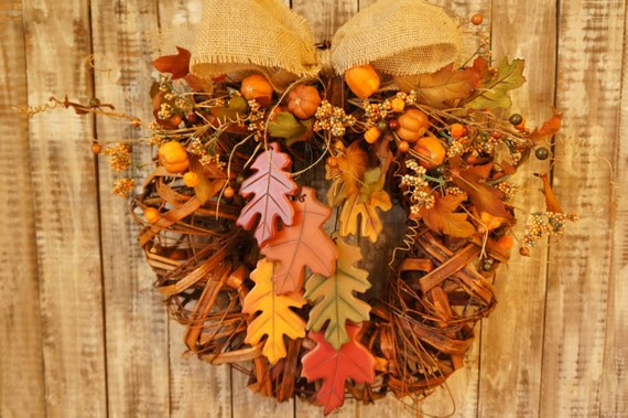 Fall Sale Rustic Fall Wreath For Door Fall Burlap Wreath