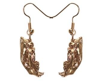 Cougar Jewelry 3D Printed Earrings Cougar Skull Earrings