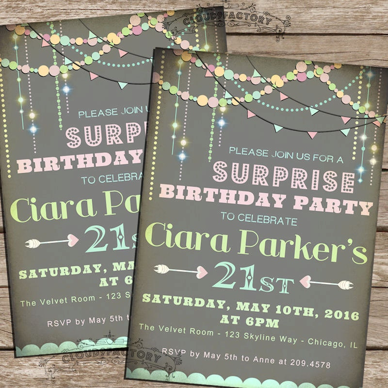 SURPRISE Birthday Invitations Sweet 16 21st 30th Or Any