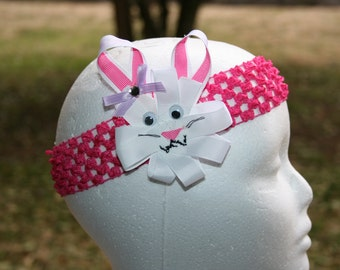 Easter headband, Easter hair bow, Easter hair clip, easter bunny, baby girl easter outfit, easter dress, ribbon sculpture hair clip