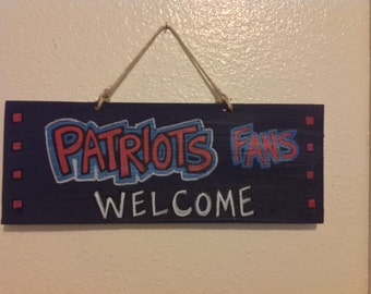 New England Patriots Welcome Sign