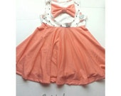 Baby dress with bow on the back ! NB to 2T (more sizes available) ** choose you fabric at our fabric options category **