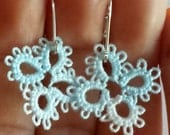 Paris Tatted Earrings- Blue Ice