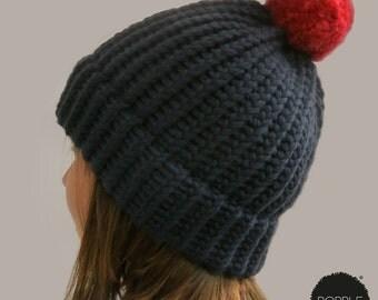 BIG BOBBLE (Adult Size) 100% Merino Wool Bobble Hat
