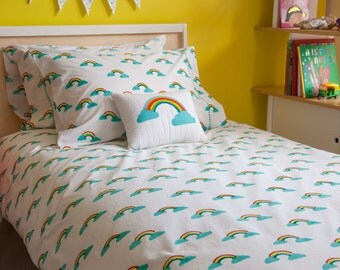 Rainbow single pillowcase