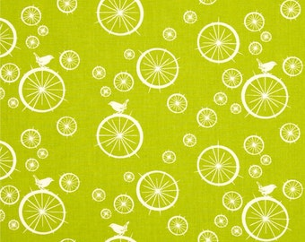 Birch Organic Fabric - Mod Basics - Birdie Spokes Grass -- 1/2 yard