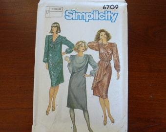 Simplicity Drape Dress pattern # 6709