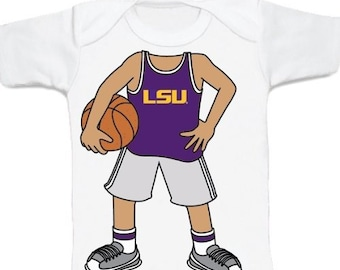 LSU Tiger Heads Up! Basketball Baby T-Shirt