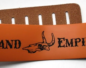 Custom Engraved Leather Guitar straps, custom guitar straps, guitar straps, personalized guitar straps, Rust color