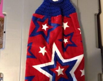 4th of July Crochet Towel Topper