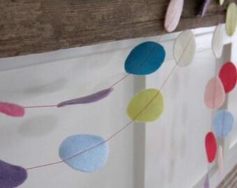 Easter Egg Felt Party Garland/Decoration Pastel Pink/Purple