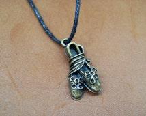 Vinatge dancing shoes necklace pendant