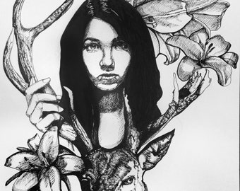 "MadeToOrder Original 18""x24"" (or similar) drawing portrait"