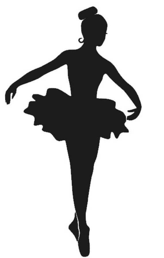 "Items similar to 6"" Ballerina Decal on Etsy"