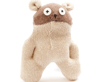 Baby Bear Sock Toy, Stuffed Animal Doll, Small Personalized Gift, Baby Safe