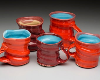 Coffee Mugs in a variety or colors and shapes. Mix and Match your set!