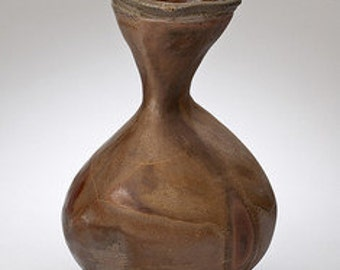 Anagama wood-fired ceramic vessel.