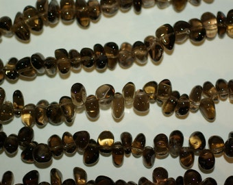 Smoky Quartz Nugget Beads 10-12mm 16 inches Full Strand