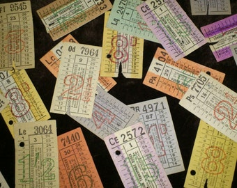 Vintage London Bus Tickets - 20 Random